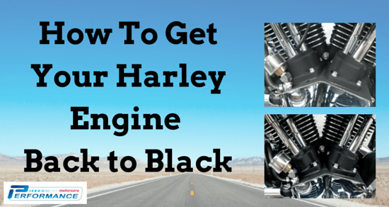 How to get your Harley Davidson Motorcycle Engine Back to Black