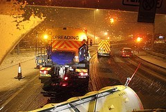 Gritting In Action - Winter Car Care
